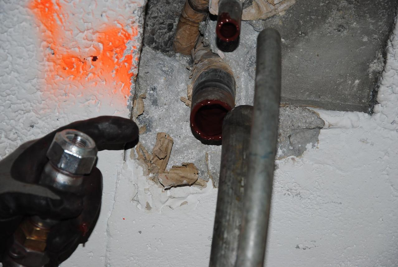 Point d'injection depuis sous sol