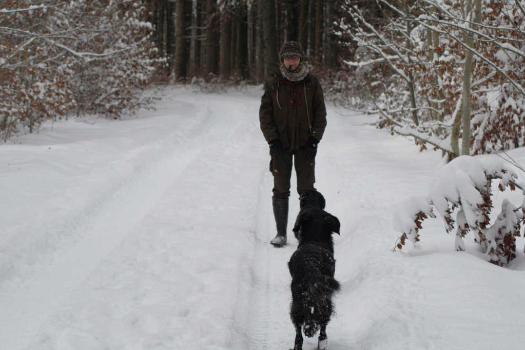 Erziehungstraining im Schnee