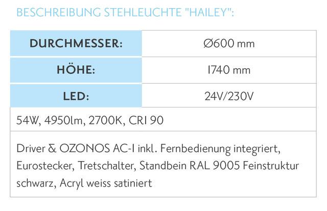 Ozonos Hailey Stehlampe mit Luftreinigung