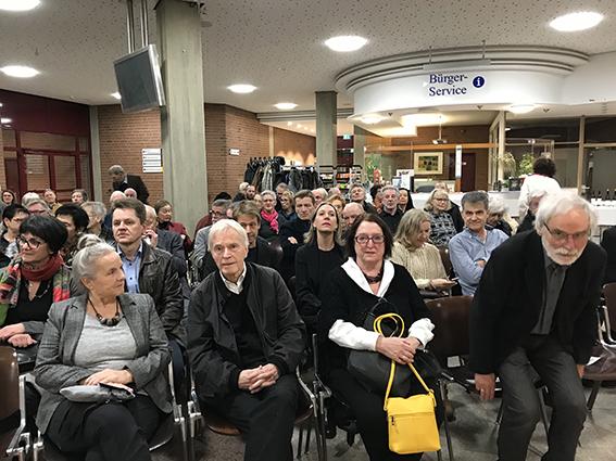 """Ausstellungseröffnung """"Stankowski und seine """"Zeichenknechte"""" in Ludwigsburg, Kreishaus 14.02.19"""