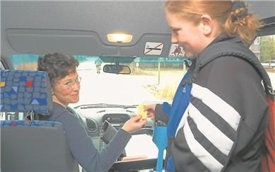 Die 1. Fahrerin Ulla Klump