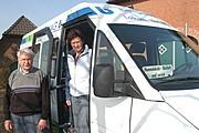 August Exo mit der 1. Fahrerin Ulla Klump