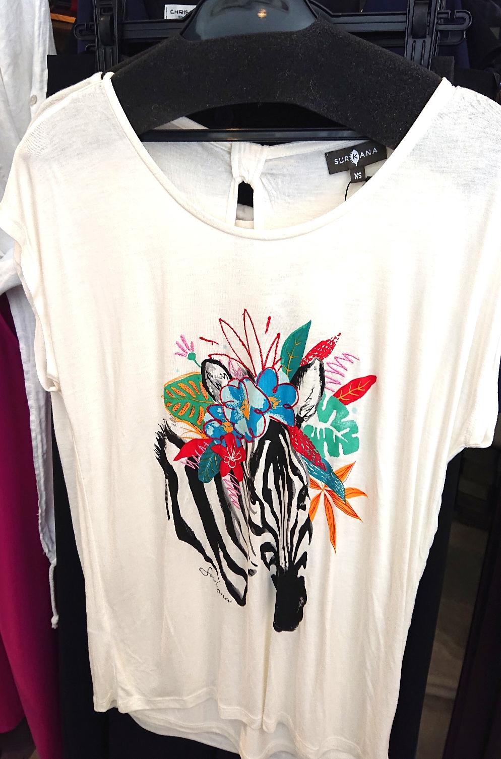 シマウマ❗プリント+刺繍Tシャツ¥7,700税込(スルカナ)