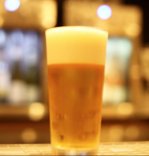 生ビール ランチタイム¥600+税ディナー¥650+税