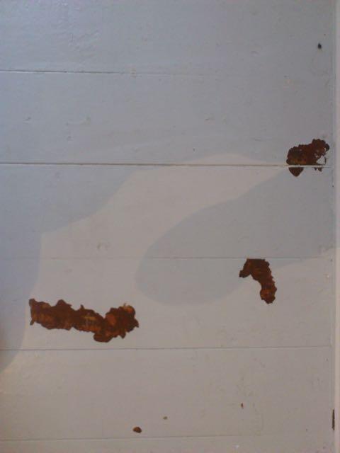 Dielen mit Ochsenblut und grauer Frabe schleifen, Schulenburgring, Tempelhof, Berlin