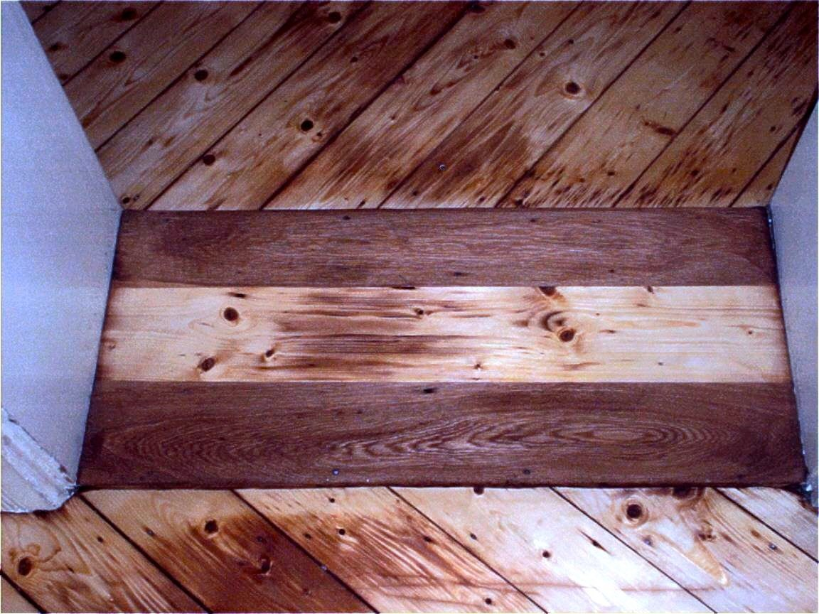 Dielen und Türschweller schleifen, Versiegelung Holzhartöl