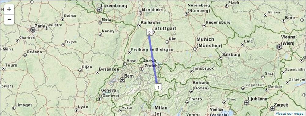 Die ersten Km, nähe Stuttgart