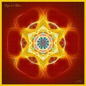 Terre (Ange) mandala créé par Olivier Manitara