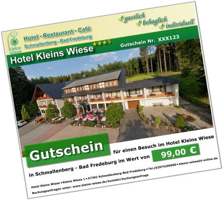 Gutschein Hotel Kleins Wiese
