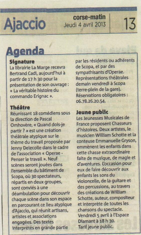 Corse-Matin - 4 avril 2013