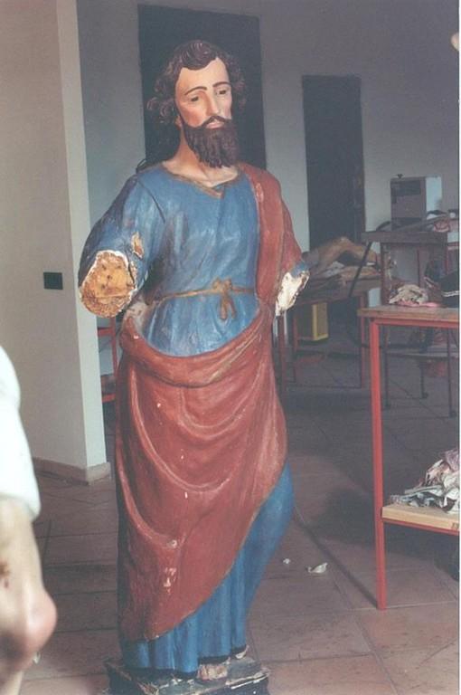 statua di S. Andrea Apostolo prima del restauro