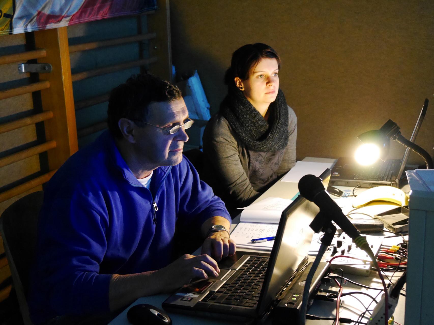 Unser Wettkampf-Büro, Jürgen und Tina Besser. Hier laufen alle Fäden zusammen.