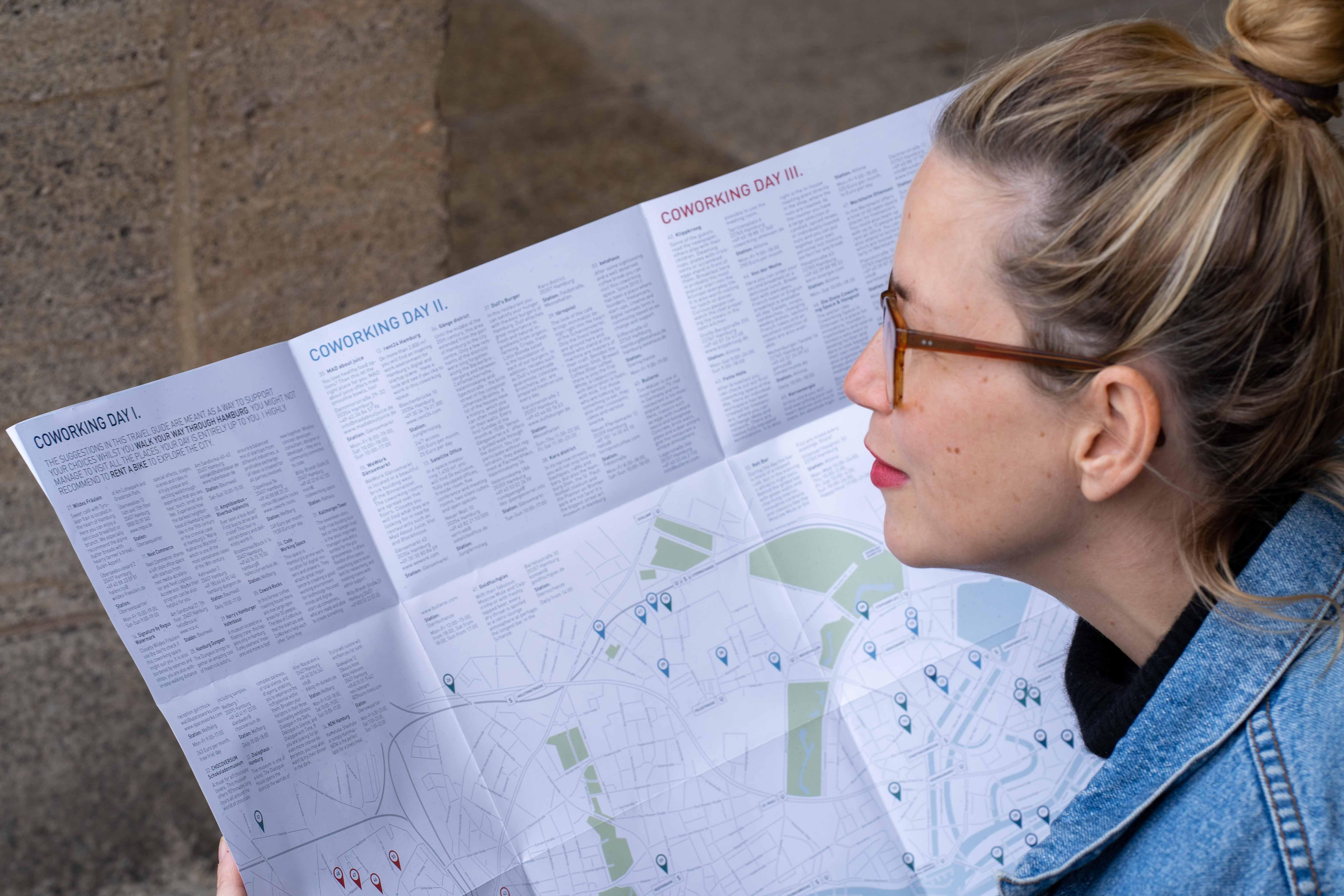 Coworking in Hamburg Map