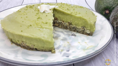 Tarte crue avocat-citron vert-coco (sans gluten-lait-oeuf) 😋