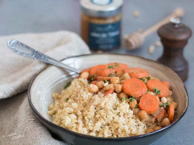 Tajine de carottes et pois chiches 😋