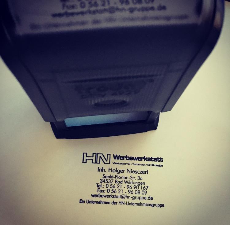 Adressenstempel « AUTO » mit Kissen Buchdrucker & Buchbinder Firmenstempel Autohaus Werkstatt