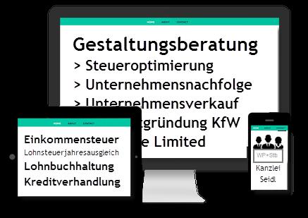 WP- & Stb-Kanzlei Seidl > Auszug unserer WP- und Steuerberater-Dienstleistungen