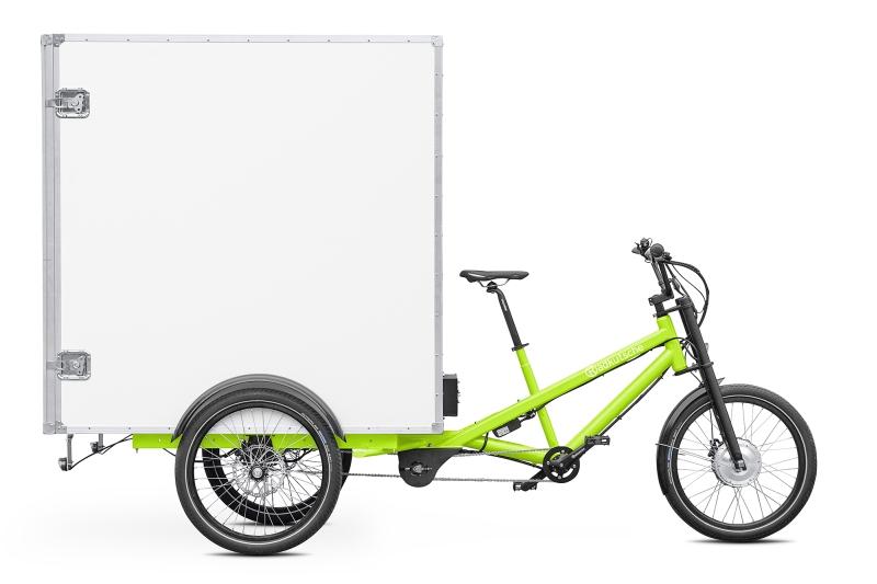 e-Cargobike / Lastenvelo Radkutsche Musketier mit Muskebox