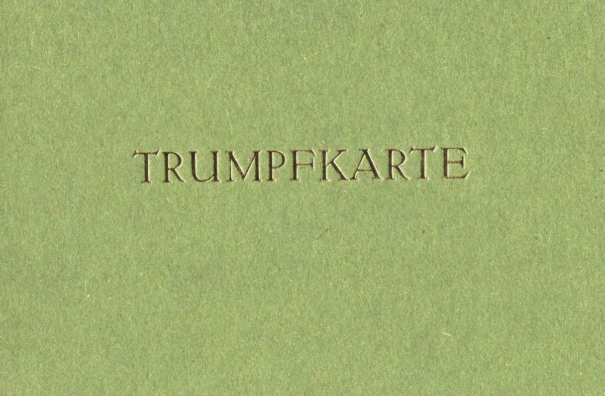 Trumpfkarte grün 3 Euro