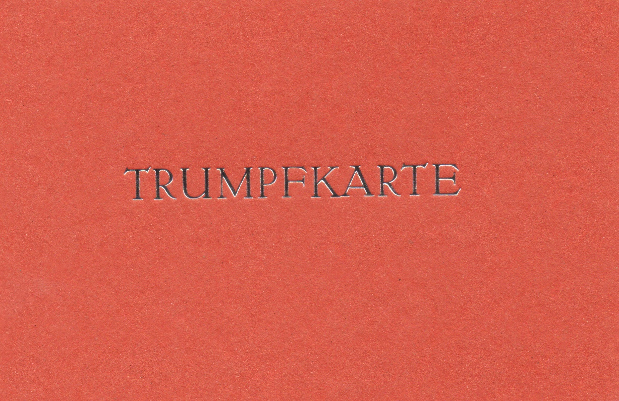 Trumpfkarte cotto 3 Euro