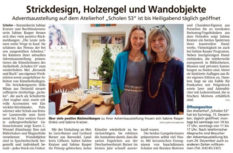 Sulinger Kreiszeitung vom 6.12.2019