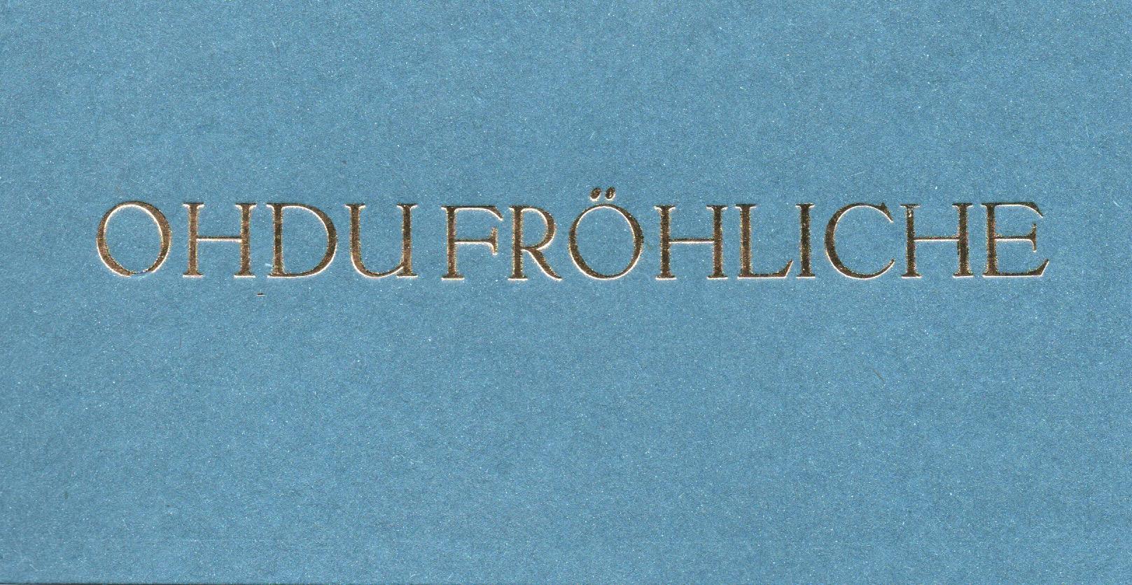 OHDU blau, Din lang, 4 Euro