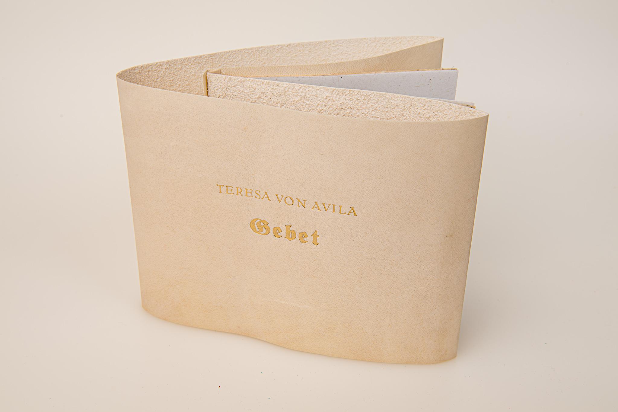 Gebet, Teresa von Avila, Pergamentbroschur, verkauft