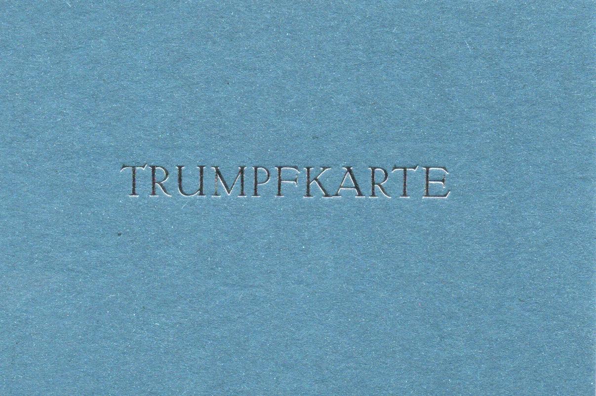 Trumpfkarte blau 3 Euro