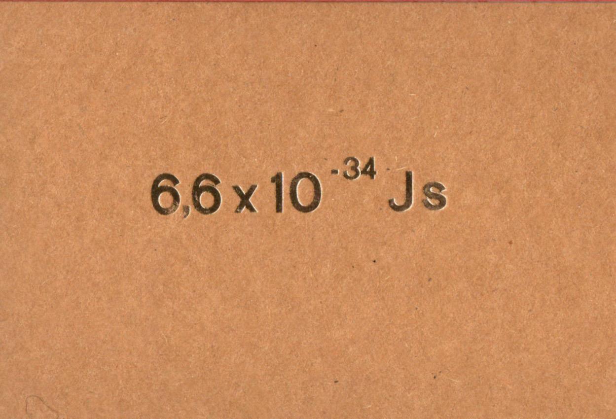 das Plancksche Wirkungsquantum - der Quantensprung 4 Euro