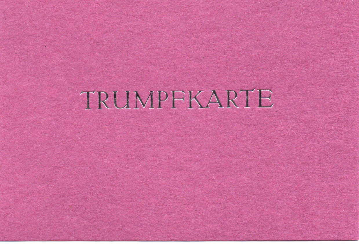Trumpfkarte pink 3 Euro