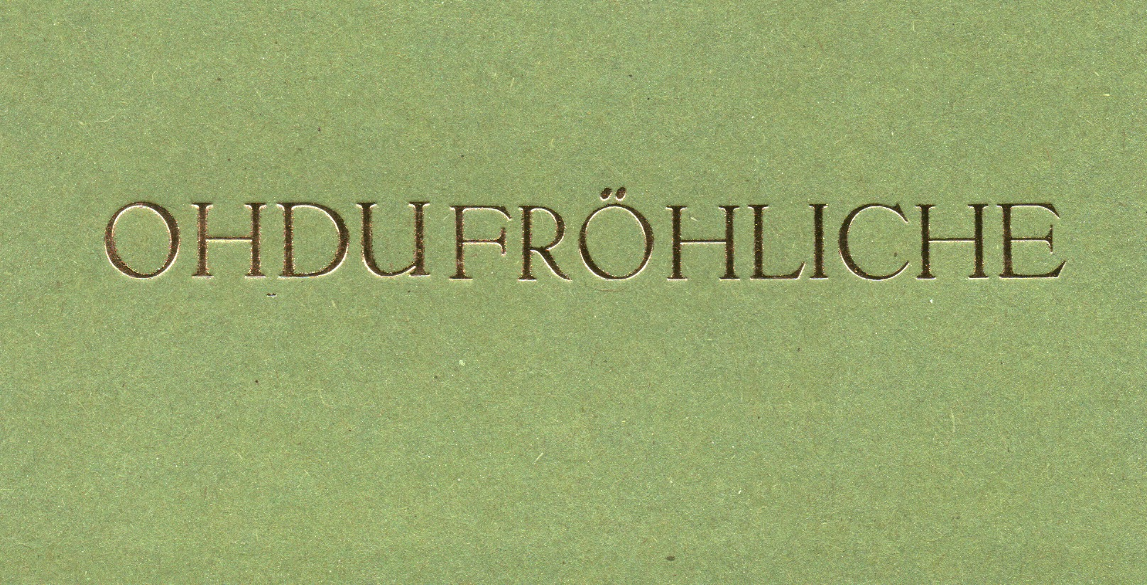 OHDU grün, Din lang, 4 Euro