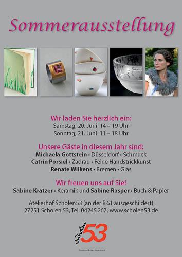 Plakat zur Sommerausstellung 2016