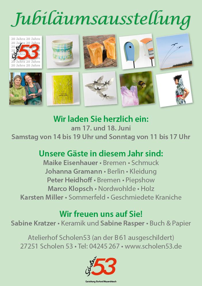 Plakat zur Sommerausstellung 2017