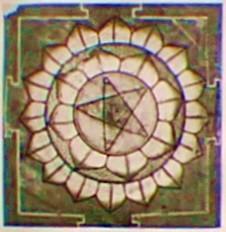 Elementestern in 8- bzw.16-blättriger Blüte; Indien, Rajastan, 16. Jhdt.