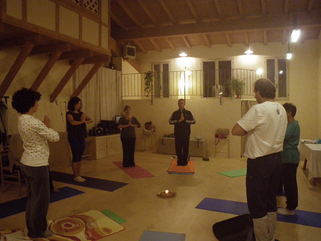 Seminario di Yoga tenuto da Eliana Baccherini, saluto finale