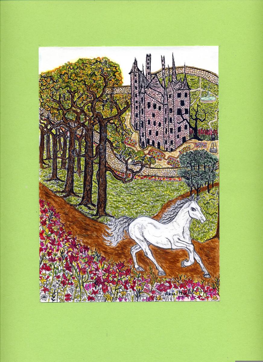 Jeune cheval blanc