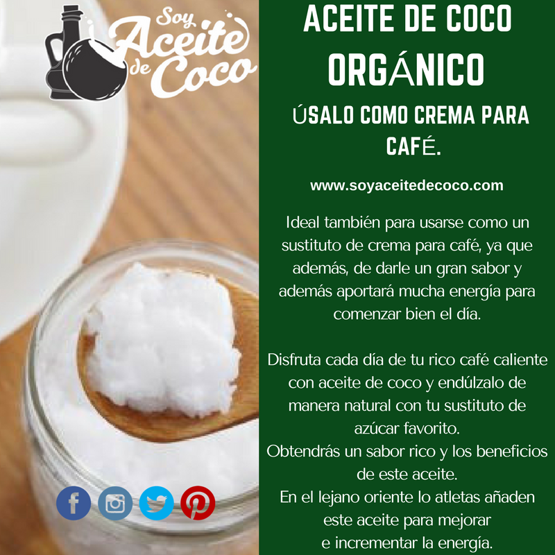 aceite de coco con cafe beneficios