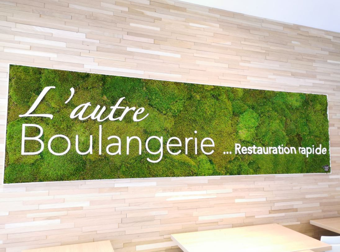 Mur végétal mousse plate (L'AUTRE BOULANGERIE)