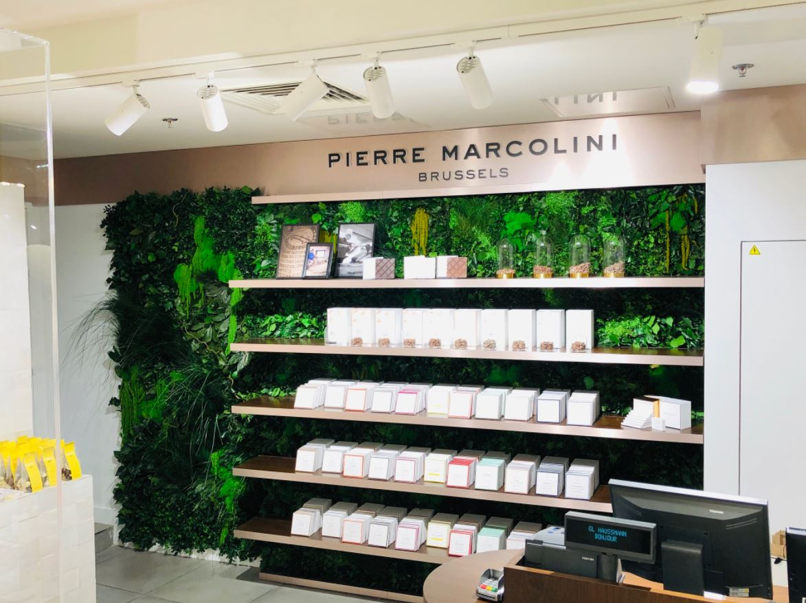 Mur végétal gamme feuillu (PIERRE MARCOLINI)