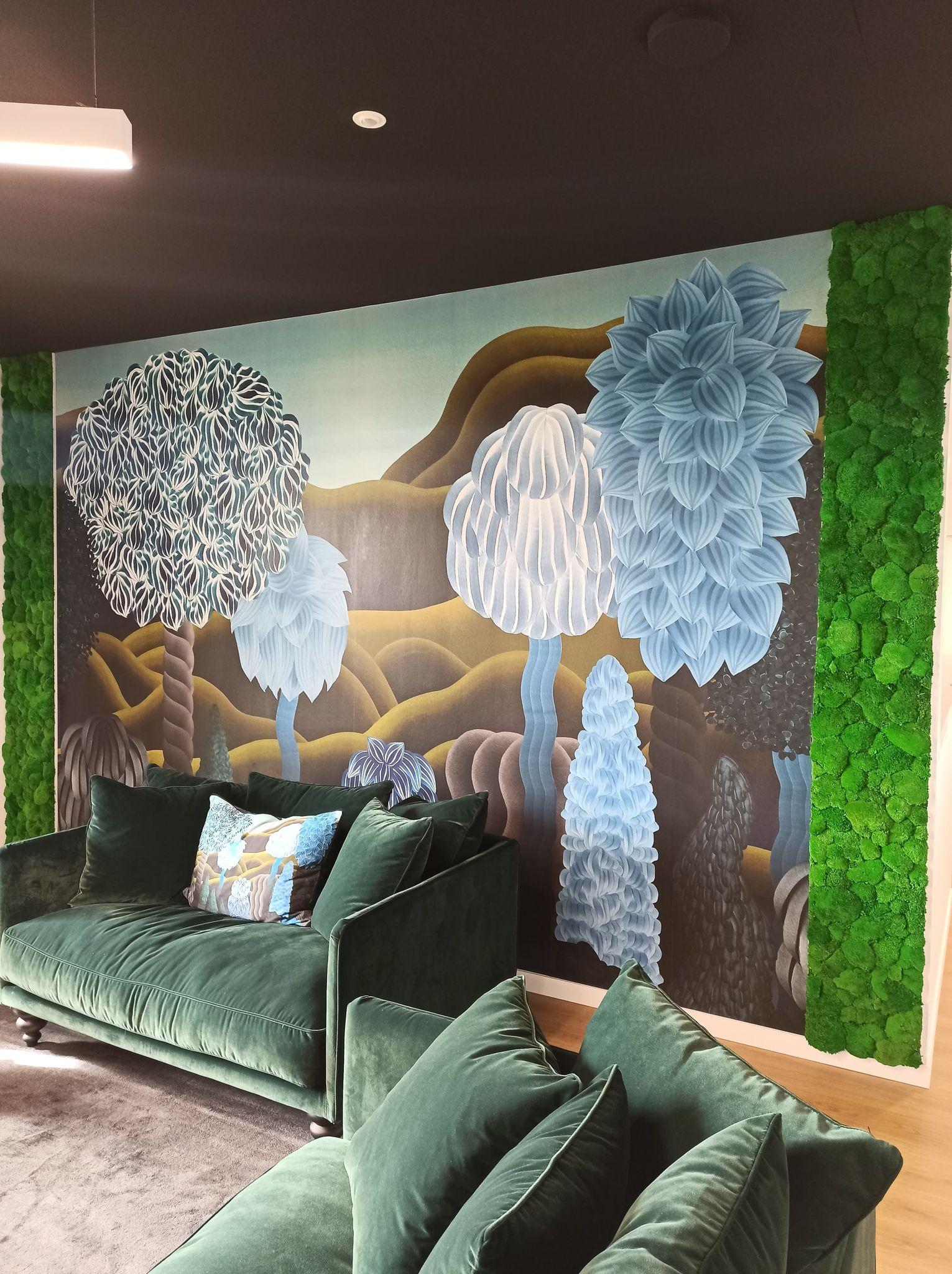 Mur végétal gamme mousse boule (Polygone)
