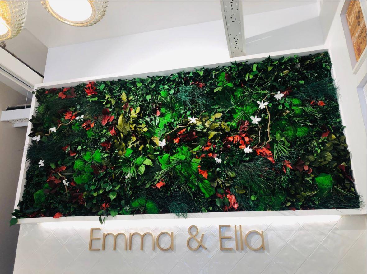 Mur végétal gamme feuillu (EMMA&ELLA)
