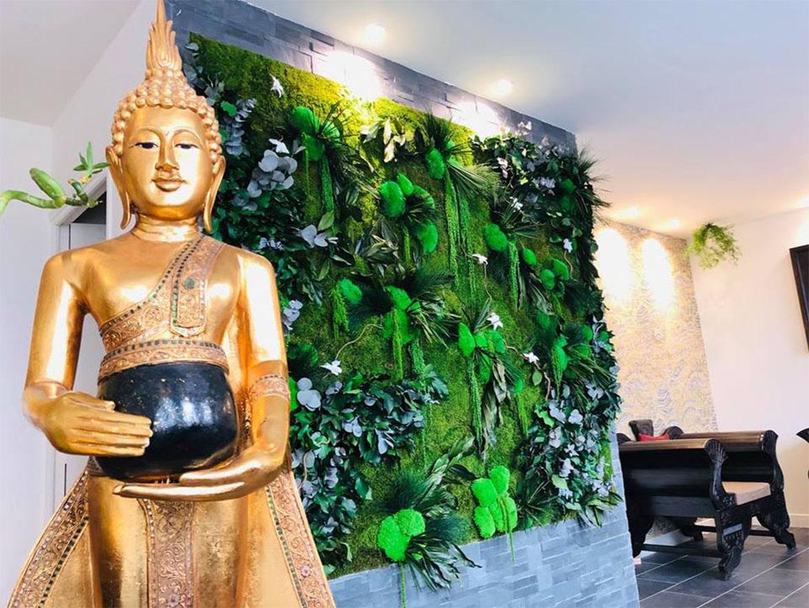 Mur végétal gamme relief (SPA THAI LUXE)