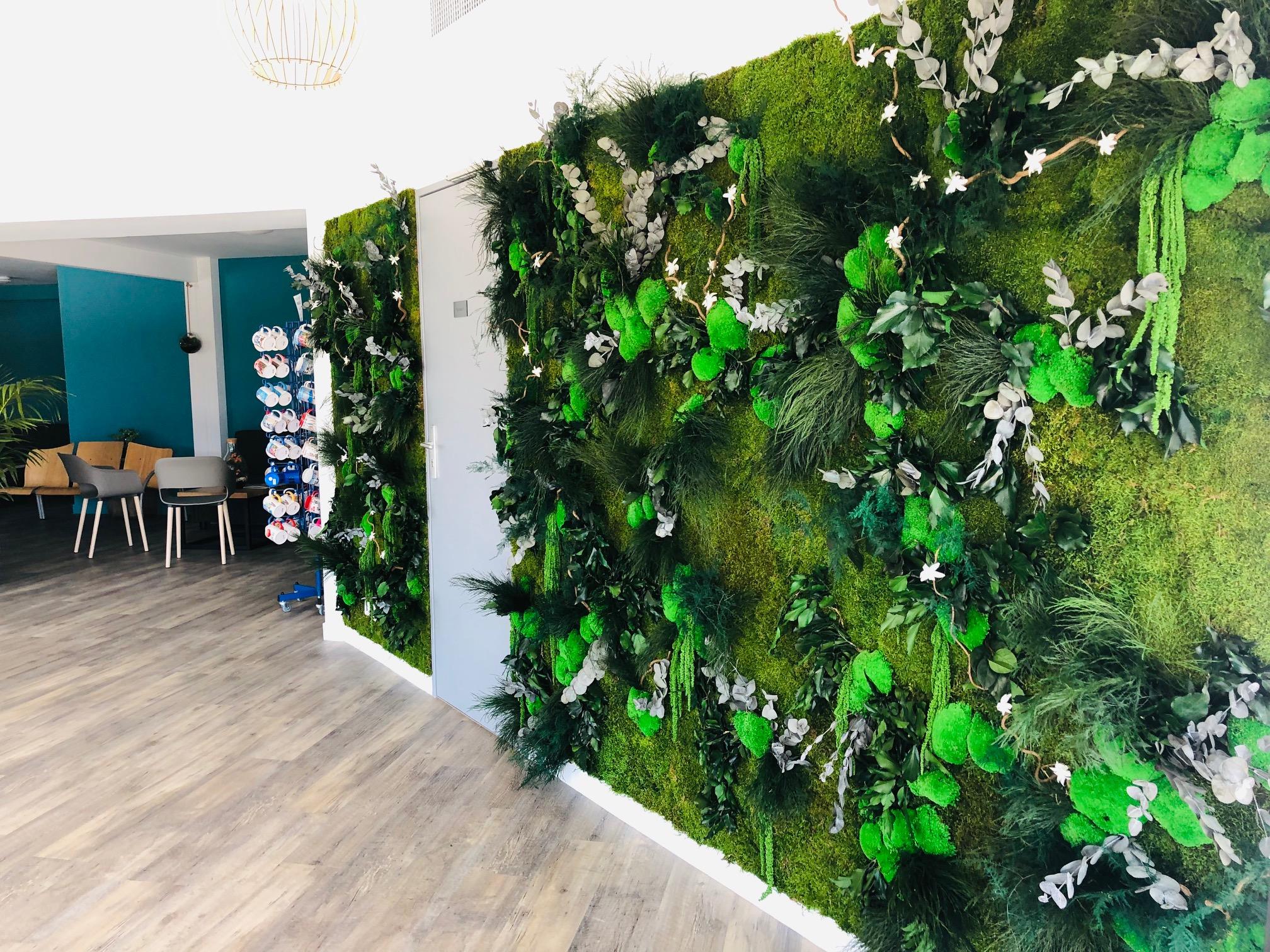 Mur végétal gamme relief (ODÉSIA)