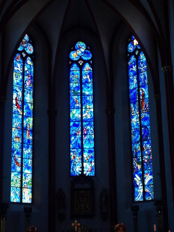 Les vitraux de Chagall.