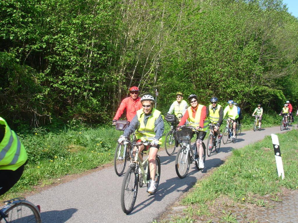 Sur les pistes cyclables allemandes.