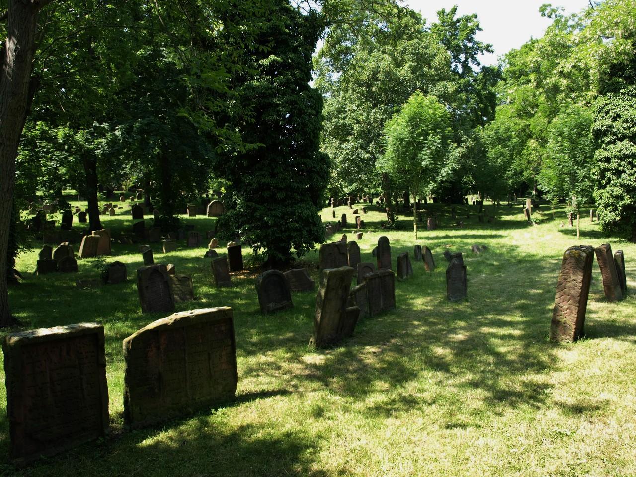 Le cimetière juif.