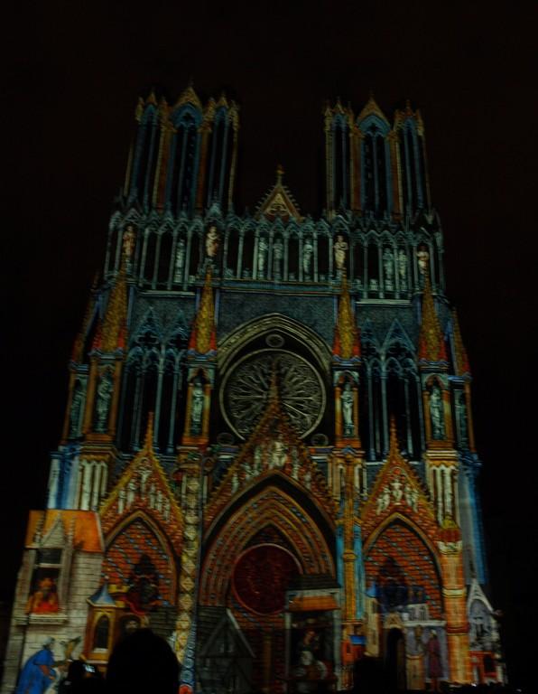 Spectacle sur la cathédrale.