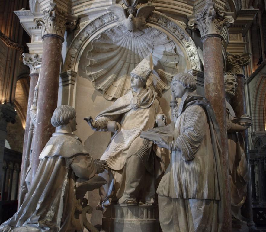 Le baptême de Clovis sur le tombeau de saint Remi.