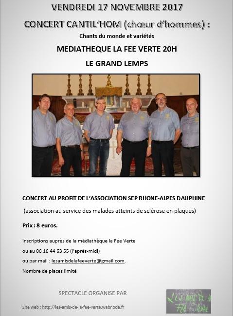 Concert au profit de l'association SEP Rhône-Alpes Dauphiné