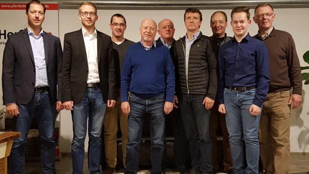 Vertreter des Kreisverbandes, Alexander Heinz und Michael Ruhl, Vorstand der CDU Wartenberg · Christof Keller · Hartmut Gohlke · Heiner Bockweg · Steffen Trier · Matthias Keller · Lukas Kaufmann und Vorsitzenden Wolfgang Schleiter.